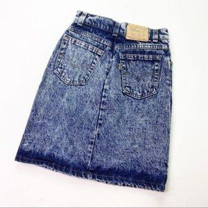 Vintage Levi's Acid Wash Denim Jean Pencil Skirt